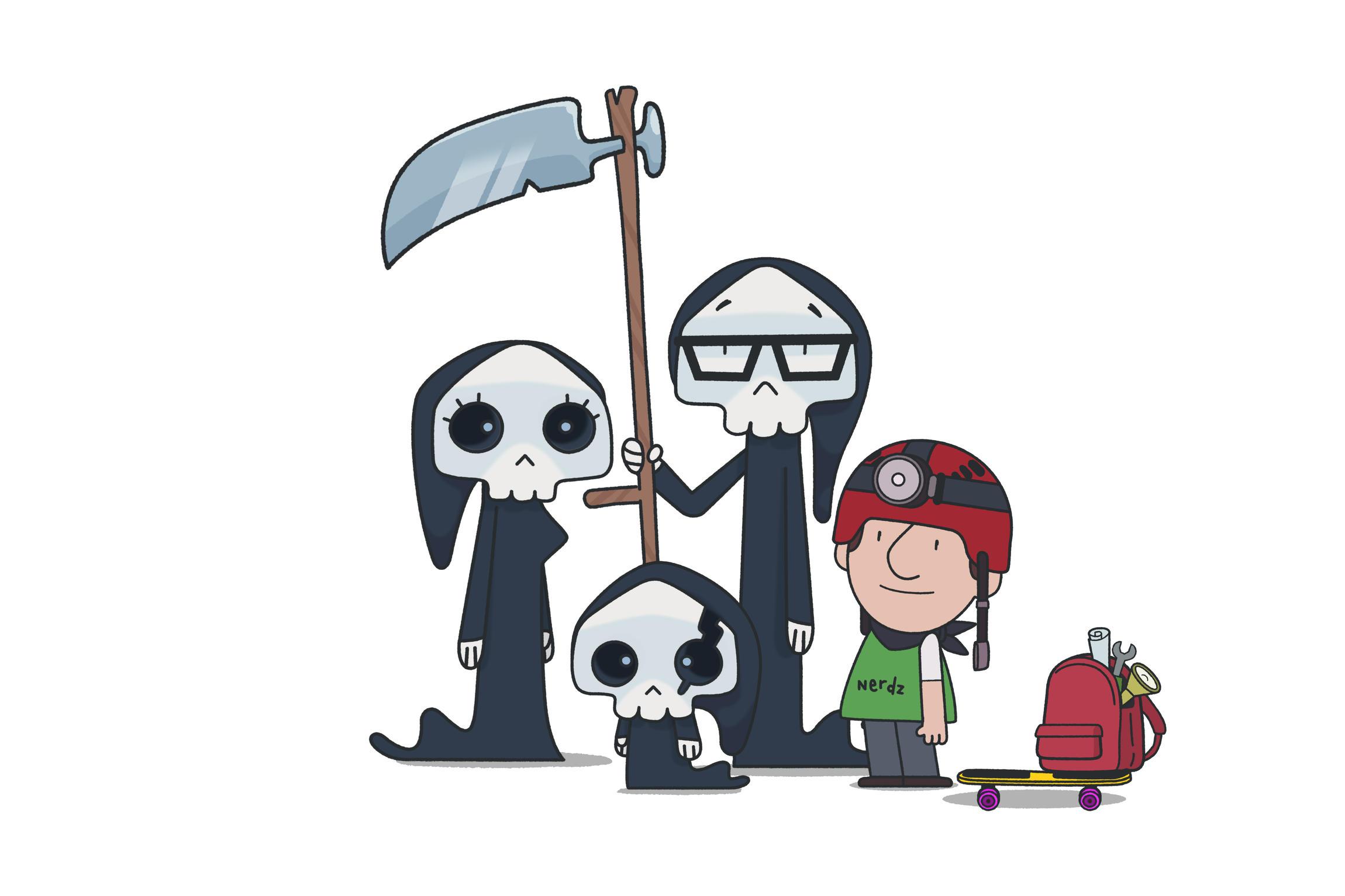 La Famille Mort : Maman Mort, Papa Mort, Petite Mort et Ludo