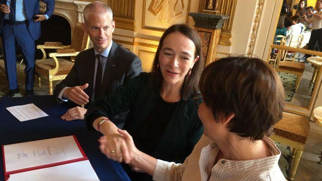 Franck Riester, Delphine Ernotte Cunci et Annick Girardin