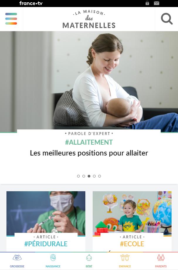 La Maison des maternelles - un site au service des parents