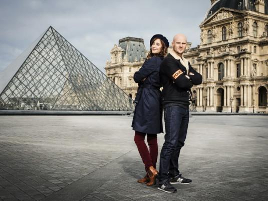 Le capitaine Antoine Verlay et l'historienne de l'art Florence Chassagne.