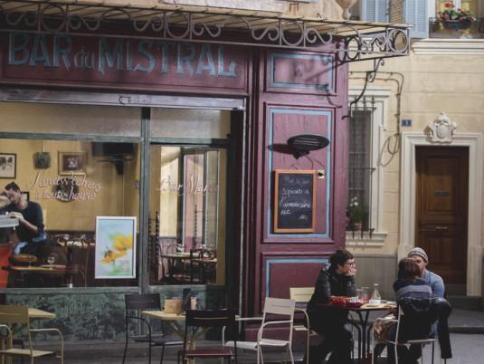 Le bar du Mistral, qui est tenu par Roland Marci.