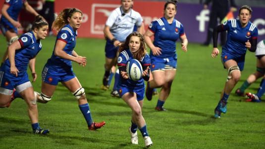 Pauline Bourdon et le XV de France féminin rencontrent l'Italie.