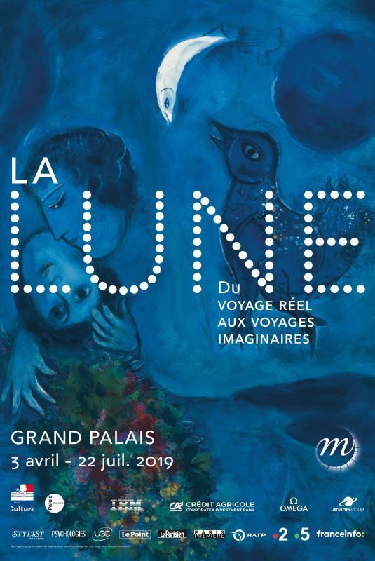 La Lune s'expose au Grand Palais jusqu'au 22 juillet 2019.