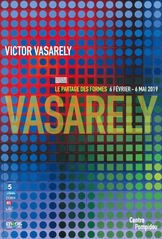 Exposition Victor Vasarely, jusqu'au 6 mai 2019 au Centre Pompidou (Paris).