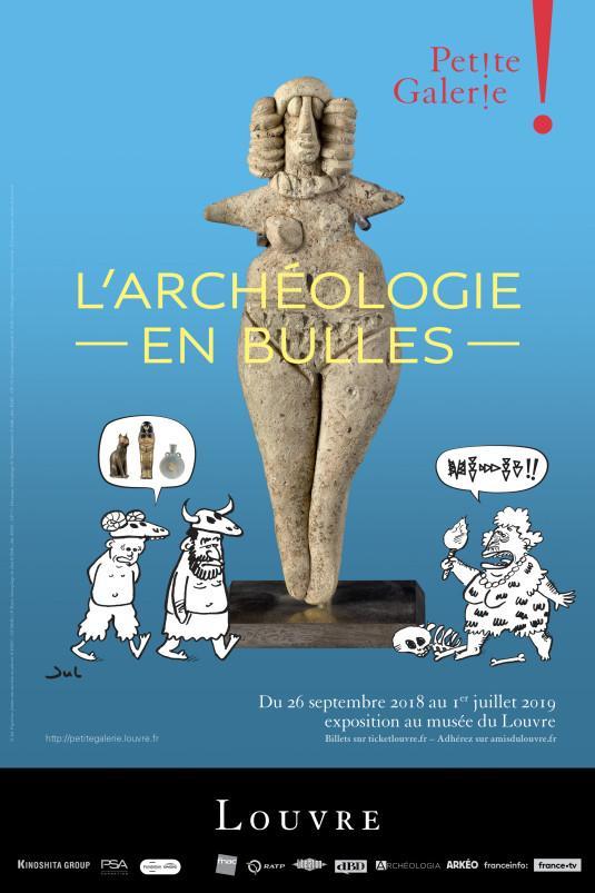 «L'Archéologie en bulles» à la Petite Galerie du Louvre
