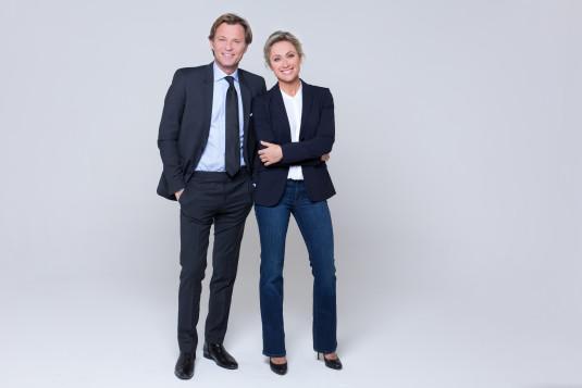 Anne-Sophie Lapix et Laurent Delahousse