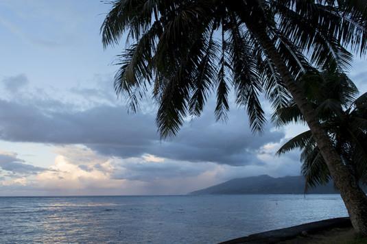 Une plage de Tahiti.