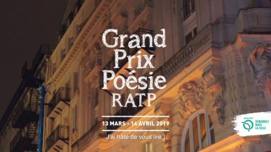 Remise du Grand Prix Poésie RATP 2019