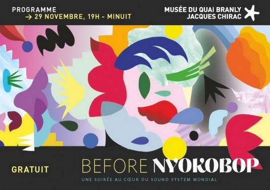 Before Nyokobop au quai Branly le 29 novembre 2019