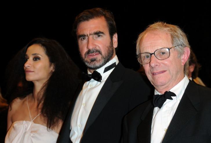 Rachida Brakni, Éric Cantona, et Ken Loach au Festival de Cannes.