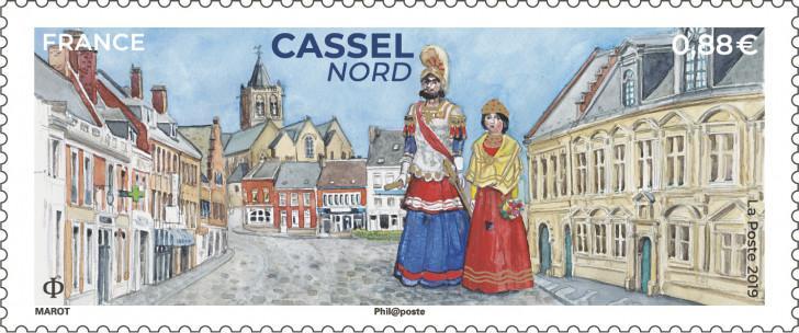 Timbre à l'effigie de Cassel