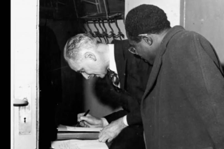 Aimé Césaire et Louis Aragon.