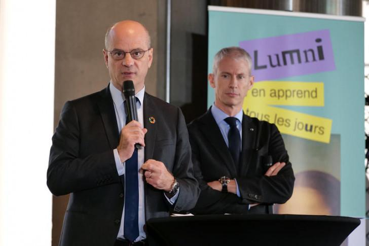 Jean-Michel Blanquer et Franck Riester.