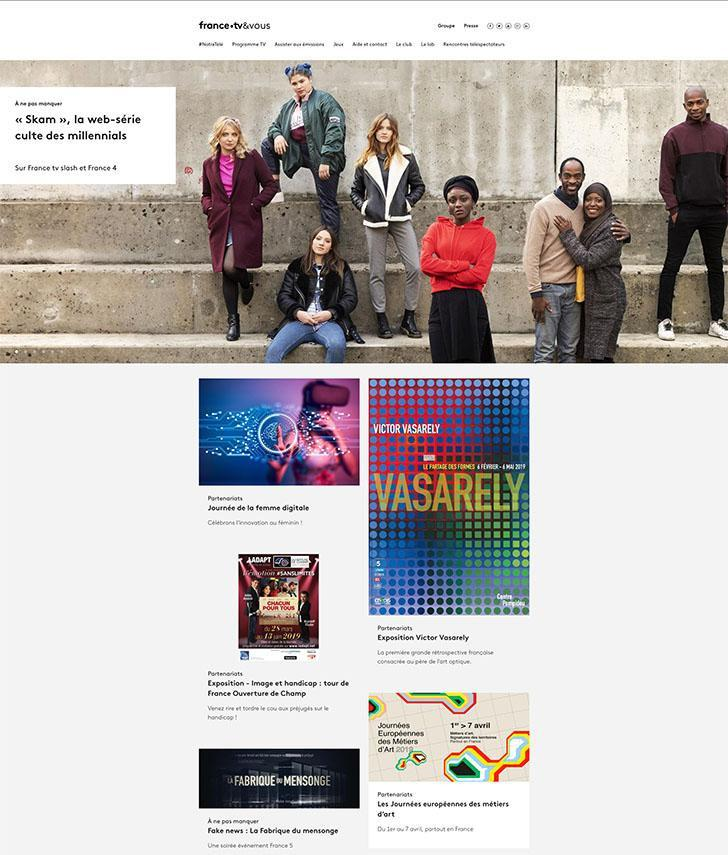 Page d'accueil France tv & vous